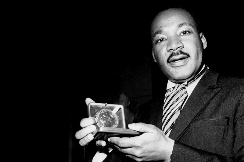 Martin Luther King, Jr. with Nobel Peace Prize